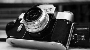 Preview wallpaper camera, vintage, design, black and white