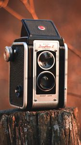 Preview wallpaper camera, vintage, retro, stump, blur