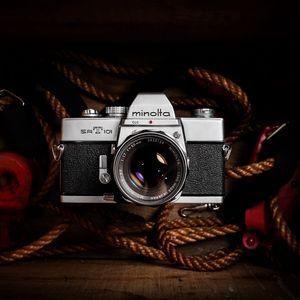 Preview wallpaper camera, vintage, retro, lens