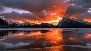 Preview wallpaper canada, alberta, banff national park, sunrise