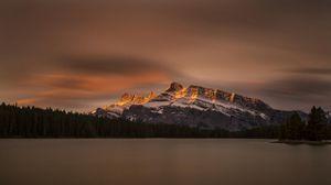 Preview wallpaper canada, banff national park, jack lake, mountain, lake