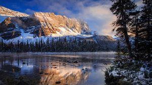 Preview wallpaper canada, banff national park, mountains, lake