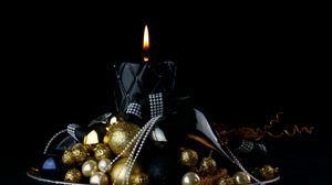 Preview wallpaper candle, christmas, ornament