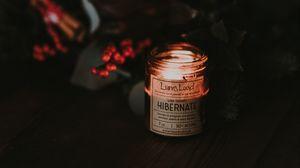 Preview wallpaper candle, dark, rowan, blur, comfort