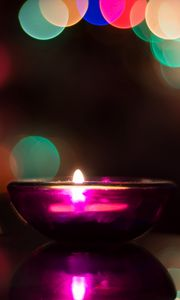 Preview wallpaper candle, flare, shine
