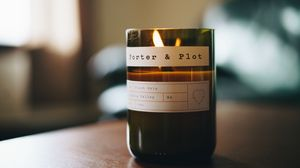 Preview wallpaper candle, packing, inscriptions