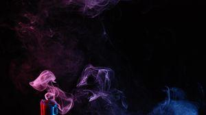 Preview wallpaper candle, smoke, colored smoke