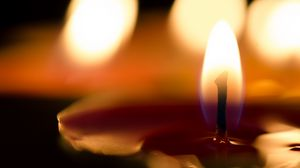 Preview wallpaper candle, wick, fire, wax