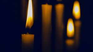 Preview wallpaper candles, glow, dark