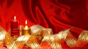 Preview wallpaper candles, ribbon, romance
