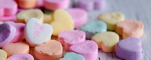 Preview wallpaper candy, hearts, inscription, macro, colorful