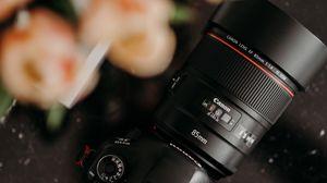 Preview wallpaper canon, camera, equipment, lens