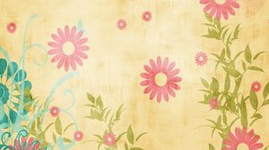 Preview wallpaper canvas, fabric, flowers