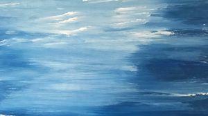 Preview wallpaper canvas, paint, blue