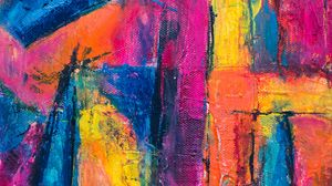 Preview wallpaper canvas, paint, strokes, colorful, abstraction