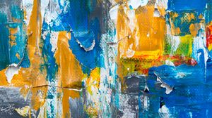 Preview wallpaper canvas, paint, brush strokes, colorful, abstract, modern art