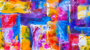 Preview wallpaper canvas, spots, paint, strokes, colorful, abstraction