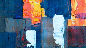 Preview wallpaper canvas, stains, paint, colorful, contemporary art, abstraction