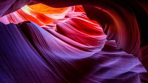 Preview wallpaper canyon, layers, crevices, sandy rocks, antelope canyon, arizona