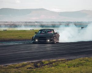 Preview wallpaper car, drift, smoke, extreme
