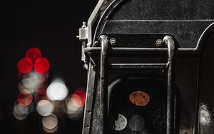 Preview wallpaper car, ladder, suv, black, rear view