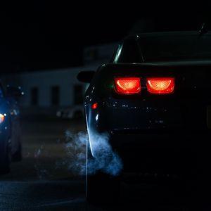 Preview wallpaper car, lights, night