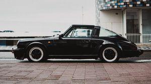 Preview wallpaper car, retro, black