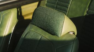 Preview wallpaper car, seats, leather, green