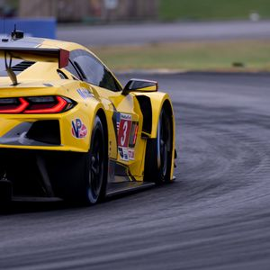 Preview wallpaper car, sports car, race, track, yellow