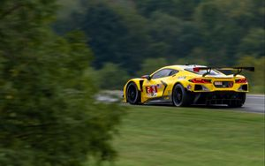 Preview wallpaper car, sports car, yellow, tuning, speed