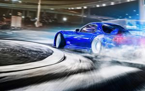 Preview wallpaper car, sportscar, drift, speed, racing