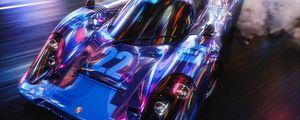 Preview wallpaper car, sportscar, drift, speed, smoke, lights