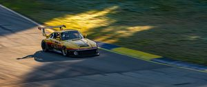 Preview wallpaper car, yellow, race, track