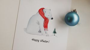 Preview wallpaper card, baubles, decoration, new year, christmas