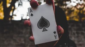 Preview wallpaper card, hand, anonymous, ace