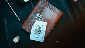 Preview wallpaper card, joker, wallet, glasses