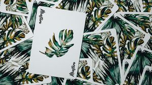 Preview wallpaper cards, deck, leaves, green, aesthetics