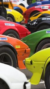 Preview wallpaper cars, colorful, tuning, parking