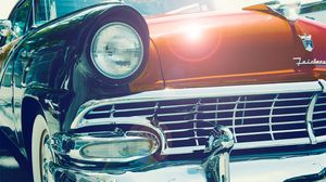 Preview wallpaper cars, vintage, front, headlight