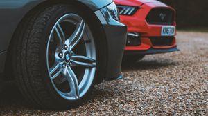 Preview wallpaper cars, wheel, headlights