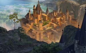Preview wallpaper castle, buildings, fantasy, art