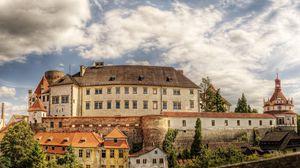 Preview wallpaper castle, buildings, trees