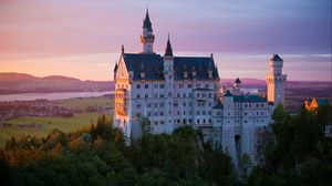 Preview wallpaper castle, neuschwanstein castle, architecture, bavaria, germany
