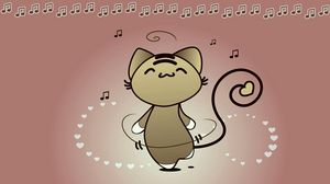 Preview wallpaper cat, dance, music