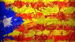 Preview wallpaper catalonia, spain, barcelona, flag, symbol, color