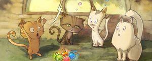 Preview wallpaper cats, comics, art, magic