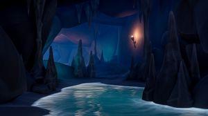Preview wallpaper cave, art, water, dark
