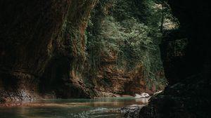 Preview wallpaper cave, water, dark, stones