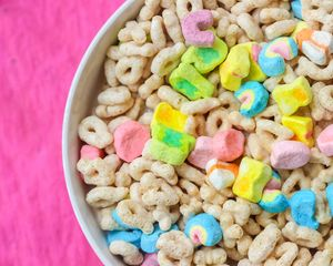 Preview wallpaper cereal, breakfast, bowl, colorful