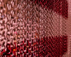 Preview wallpaper chain, links, metal, red